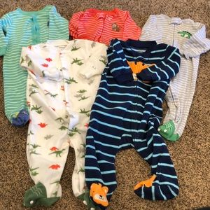 Carter's 6 month boys sleepers